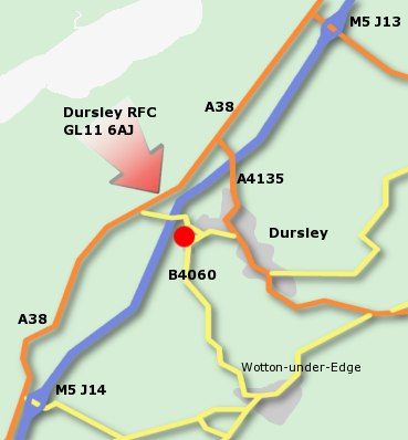 Dursley Rugby Football Club Location Map